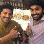vikram prabhu, Dulquer Salmaan, selfie, friends