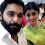 vikram prabhu, beard, selfie, wife, saree