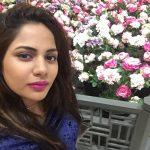 Aishwarya Dutta, flowers, selfie