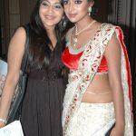 Amala Paul, Unseen With Actress, vj ramya, white saree, glamour