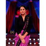 Anasuya Bharadwaj, Drama Juniours Season 3 judge, black dress