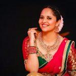 Anasuya Bharadwaj, Drama Juniours Season 3 judge, red saree, smile, spicy