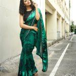 Anasuya Bharadwaj, Sacchindira Gorre Actress, green saree, 2018