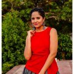 Anasuya Bharadwaj, Telugu heroine, red dress, anchor