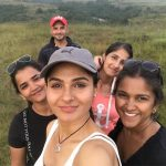 Andrea Jeremiah, friends, girls, selfie, tour