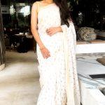Andrea Jeremiah, full size, saree, rare