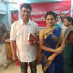 Anitha Sampath, Sun Tv, Anchor, Bhayaraj, Blue saree