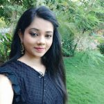 Anitha Sampath, Sun Tv, selfie, black dress