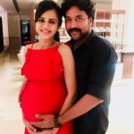 Anjana Rangan, Chandran, husband, red dress