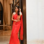 Anjana Rangan, full size, event, saree, red dress