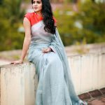 Anjana Rangan, large size, saree, photo shoot, sun tv
