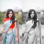 Anjana Rangan, saree, glamour, phoothsoot, anjanavj
