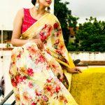 Anjana Rangan, unseen, saree, vj anjana