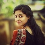 Anu Sithara, Johny Johny Yes Appa Actress, saree, back side