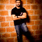 Arun Vijay, large size, black dress, hd