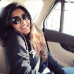 Eesha Rebba, black dress, car, coolers