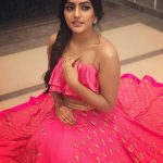 Eesha Rebba, red dress