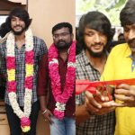 Actor Gautham Karthik 's New Movie Pooja Gallery