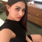 Inayat Sharma, Selfie, black dress, side view