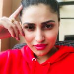 Inayat Sharma, Selfie, red t shirts. red lips