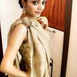 Janani Iyer, latest, wallpaper, cute, saree