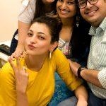 Kajal Aggarwal, family, yellow dress