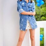 Kajal Aggarwal, full size, modren, blue dress