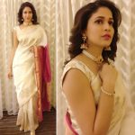 Lavanya Tripathi, Antariksham Actress, function, grand saree