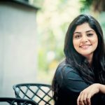 Manjima Mohan, Devarattam Actress, black dress, smile