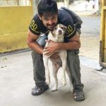 Nakkhul, Nakul, dog, hug