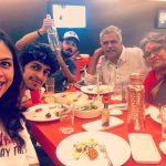Nakul, Shruthi Bhaskar, dinner, wife family, parents