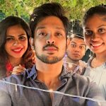 Nakul, Shruthi Bhaskar, selfie, night, function