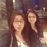 Nikki Galrani, friends. selfie, girls