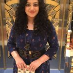 Nithya Menen, The Iron Lady Actress, jayalalitha, balck dress, cinema function