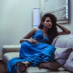 Nithya Naresh, Ennalum Sarath, blue dress,fashionable
