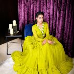 Nithya Naresh, Ennalum Sarath, yellow dress