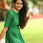 Nithya Naresh, green dress, malaiyali