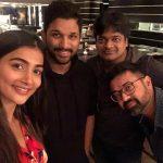 Pooja Hegde, dj team, allu arjun, selfie