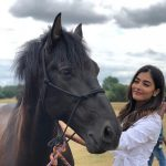 Pooja Hegde, horse,white dress