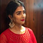 Pooja Hegde, red dress, makeup, cute