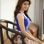 Pranitha Subhash, cute, sit, blue dress
