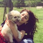 Pranitha Subhash, pet animal, dog, tamil actress
