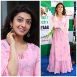 Pranitha Subhash, pink dress, full size, telugu actress
