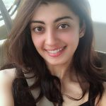 Pranitha Subhash, selfie, black dress, smile