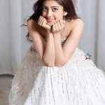 Pranitha Subhash, smile, wallpaper, white dress