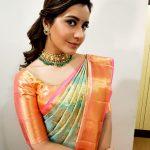 Rashi Khanna, event, function, saree, Adanga Maru