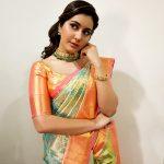 Rashi Khanna, hair style, saree, wallpaper