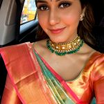 Rashi Khanna, selfie, saree, hd, Imaikkaa Nodigal