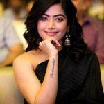 Rashmika Mandanna, black dress, event, press meet
