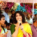 Rashmika Mandanna, saree, yellow saree
